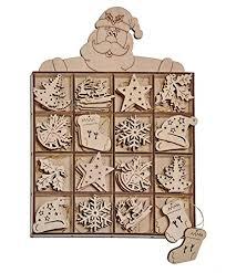 48 Weihnachtsbaum Anhänger Tannenbaumanhänger Christbaumschmuck Aus Holz 8 Verschiedene Designs