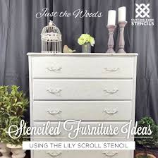 cutting edge furniture. cutting edge stencils shares diy stenciled furniture ideas using the lily scroll craft stencil http