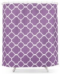 purple quatrefoil shower curtain