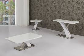 Harmony High Gloss White And Chrome Console Table