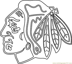 blackhawks logo png. Interesting Png Chicago Blackhawks Logo Coloring Page And Png R