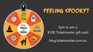 Halloween Gift Cards Trick Or Treat Spin To Win This Halloween Ticketmaster Au