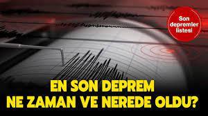 AFAD, Kandilli son gerçekleşen depremler listesi (12 Ağustos 2020): En son  deprem nerede ve ne zaman oldu?