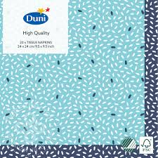Купить <b>Салфетки бумажные Duni</b> Rice Blue 3 слоя 24*24см 20шт ...