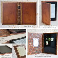leather book cover kit kindle case book covers for ereader or tablet by klevercase of leather