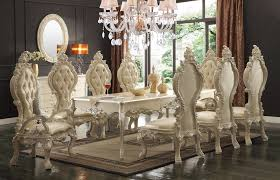 Home Design : Trendy Victorian Style Dining Table Room Chairs