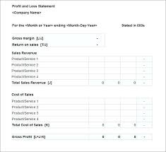 Sample Profit And Loss Statement Inspirational Revised Forms Of ...