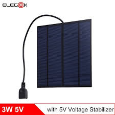<b>ELEGEEK</b> 3W <b>5V</b> USB Output Solar Panel Charger with <b>5V</b> ...