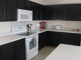 awesome black kitchen ideas with cabinet and white table in images cabinets