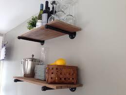 kitchen open shelving brackets inspirational small shelves i