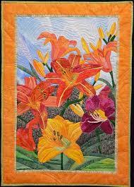 249 best art quilts images on Pinterest | Textile art, Embroidery ... & Pamela Druhen, Day Lillies Adamdwight.com