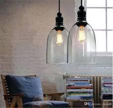 modern crystal bell glass pendant lights light uk seeded jar runsafe