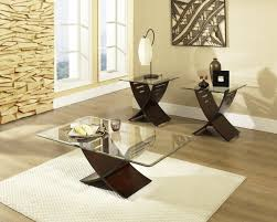 glass living room table sets