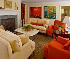 Living Room Bright Color Small Sofa Fashion San Francisco Traditional Living Room