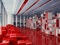 ogilvy office. Stéphane Malka Used A Red And White, Cubic Aesthetic For The Ogilvy \u0026  Mather Offices. Ogilvy Office