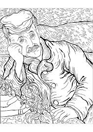 200 Kleurplaat Vincent Van Gogh Kleurplaat 2019
