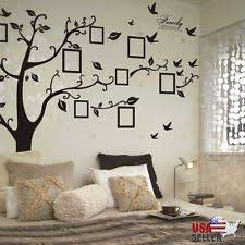 family tree wall decal sticker large vinyl photo picture frame removable black on tree wall art decals vinyl sticker with tree wall decal ebay