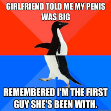 My girlfriend smacked my penis