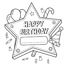Birthday Coloring Pages Free Happy Printable Unicorn