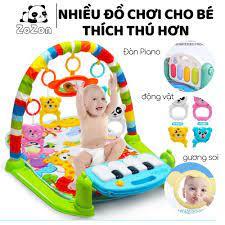 Thảm nhạc cho bé sơ sinh nằm chơi Piano Gym Khỉ Voi Hươu đồ chơi cho bé vận  động 4 giác quan thông minh Zozon tại Hà Nội