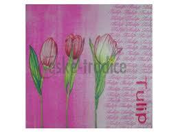 Ubrousek Pro Decoupage 33 X 33 Cm Vzor Tulipány Růžový Ceske