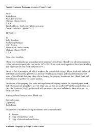 Property Manager Cover Letters 69 Images Sample Cover Letter