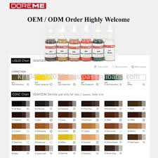 Tatto Ink Oem Odm Micro Semi Permanent Makeup Pigment Of Correct Color Tattoo Ink Doreme Buy Micro Semi Permanent Makeup Pigment Tatto