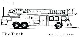 Fire Truck Coloring Template Spikedsweetteacom