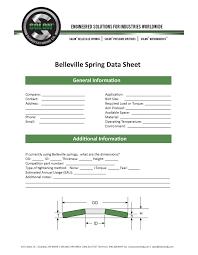 Disc Spring Design Guide Belleville Spring Data Sheet Belleville Spring Resources