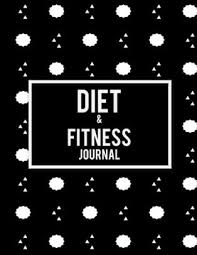 Diet Workout Journal Diet Fitness Journal Black Book 2019 Weekly Meal And Workout Planner And Grocery List 8 5