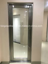 high transmittance heat insulation fire rated glass door