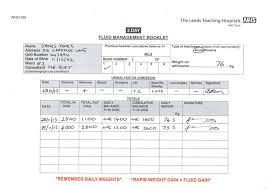 24 Hour Fluid Balance Chart Example Observation Chart