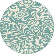 round outdoor rugs 8 round fl aqua indoor outdoor rug garden city outdoor rugs ikea uk