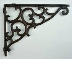 black iron shelf brackets wall bracket ornate pattern cast home depot metal nz bracke