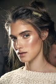 mac s s16 trend er clean no makeup look with lashes and hyper real skin seen on preen proenza schouler alberta ferreti key s strobe cream
