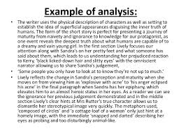short story analysis essay example co short
