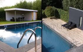 Aansluiting Tegels Hout En Stenen Lijst Om Zwembad Dit Idee Dus