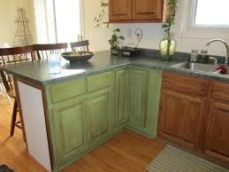 Green Painted Kitchen Cabinets Walls Image Of Painting Old Kitchen