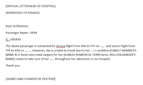 Sample Doctors Note For Travel Cancellation Cancel Airasia Flight Due To Illness Eatophilia