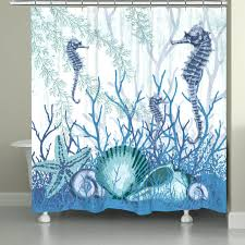 aquatic seahorses and sea ss shower curtain blue sea glass green shower curtain shower ideas sea