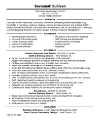 Education Coordinator Resumes Best Hr Coordinator Resume Example Livecareer