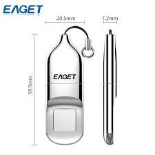 EAGET Fingerprint Type C <b>USB Flash Drive</b> 16GB <b>USB</b> 3.0 Pen ...