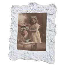 white vintage antique french style photo frame