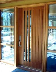 Modern Entrance Doors Residential Contemporary Glass Front Wood Door