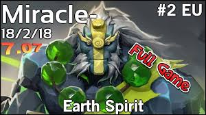 miracle team liquid earth spirit dota 2 full game youtube