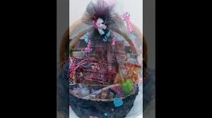 tutorial videos how to wrap gift baskets with soft tulle fabric