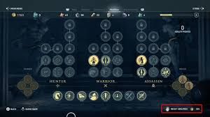 Ac Odyssey How To Reset Skills Abilities Respec Character