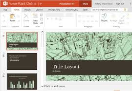 Flair Template Business Office City Sketch Powerpoint Template