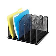 letter trays stacking supports com office school safco s 3256bl onyx mesh desktop organizer with 5 vertical sections black