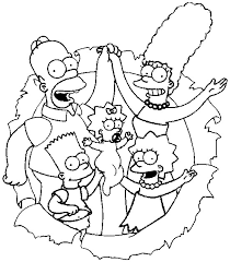 The Simpsons Coloring Pages Ava Free Printables